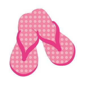 ピンクのサンダル
